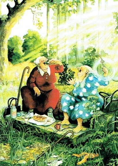 old ladies 13 - Picknick im Wald